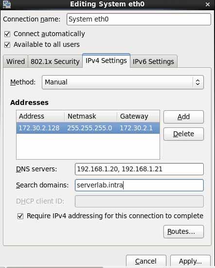 CentOS Static IP