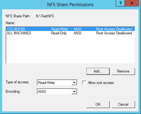 Configuring an NFS Server on Windows Server 2012 R2 - Serverlab