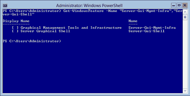 PowerShell: Get-WindowsFeature output