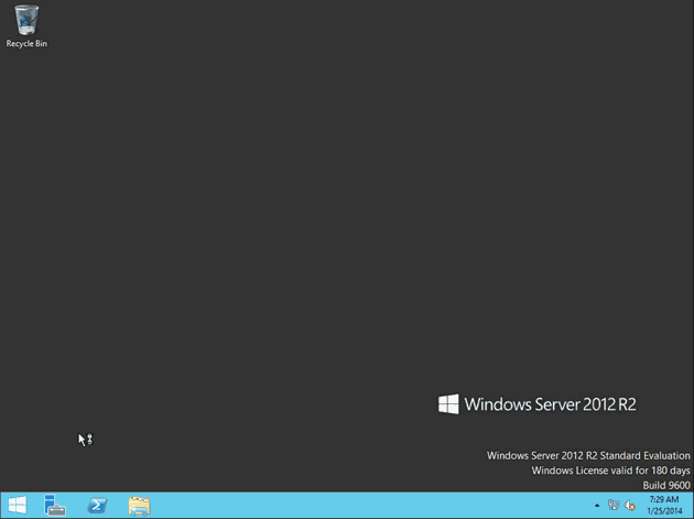Windows Server 2012 R2 Graphical User Interface