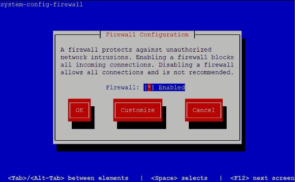 System Config Firewall