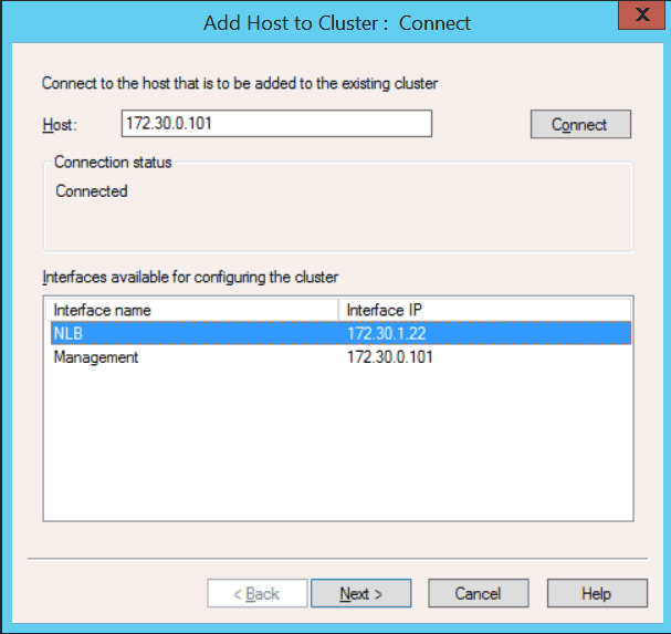 Windows Server 2012 Add Host to Cluster