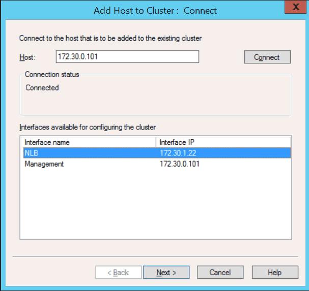 Windows Server 2012 Add Host to Cluster