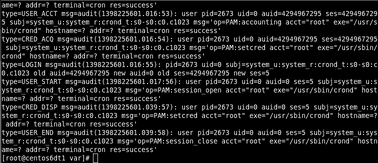 SELinux Audit Log