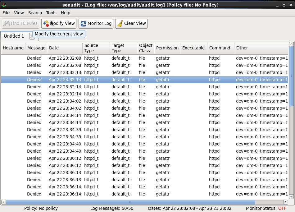 Selinux Audit Log Analysis