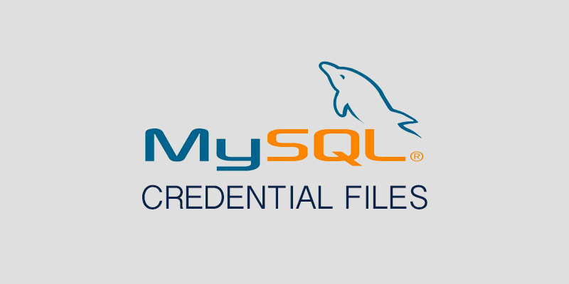 How to create a credential file for MySQL - Serverlab