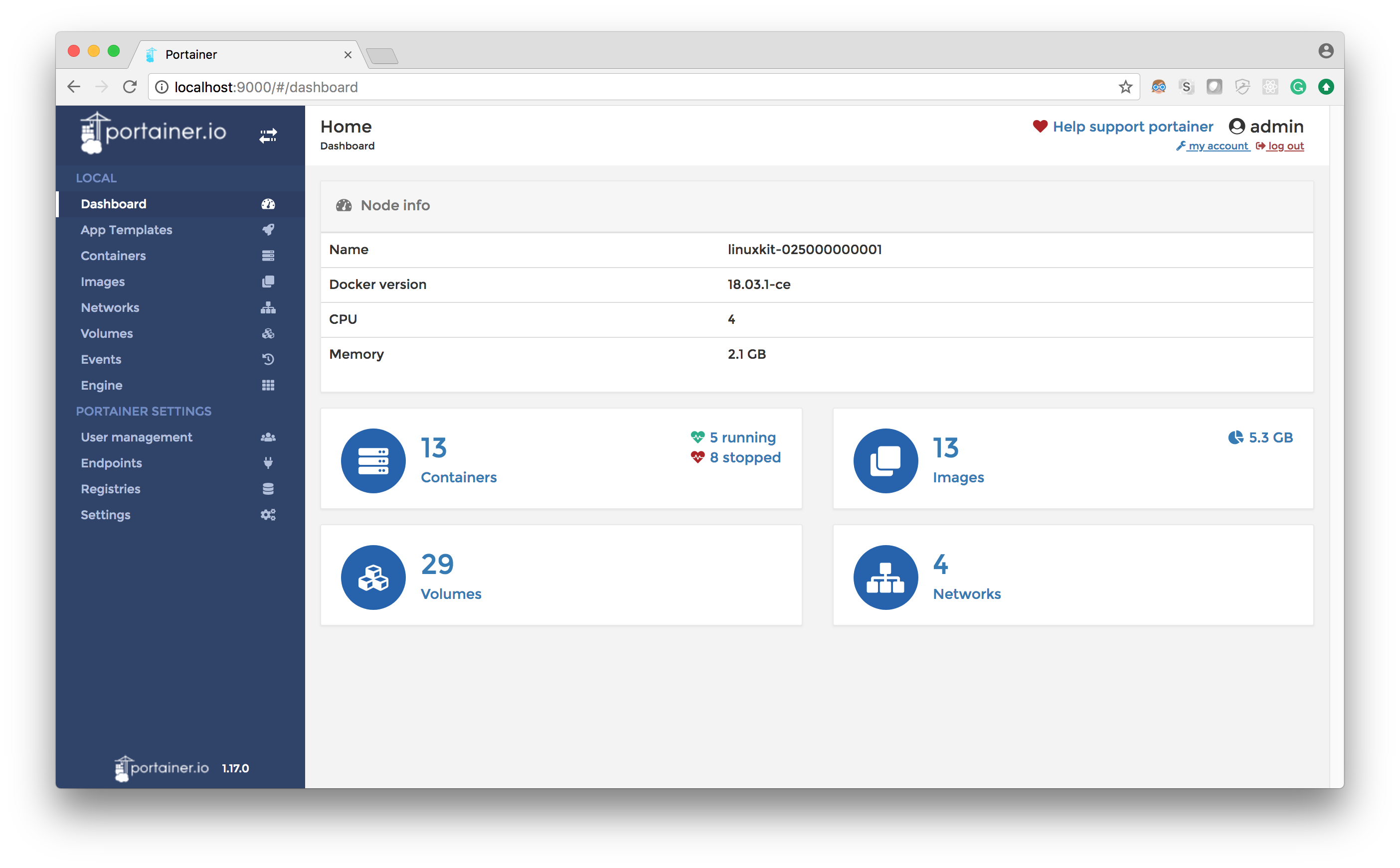 Portainer Dashboard