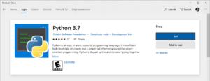 Python 3.7 in Windows Store