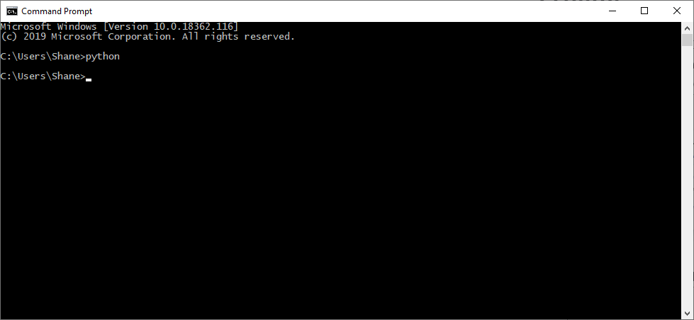 Run Python from Command Prompt to Install
